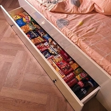 do tego właśnie służy szuflada w łóżku ❤