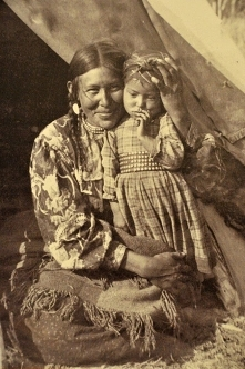 Mom and Child, c.1900.