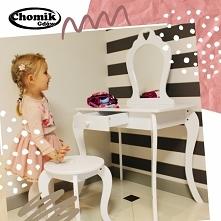Toaletka dla dziewczynki w kolorze białym lub różowym z taboretem podbija Was...