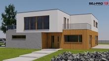 SEJ-PRO 011 ENERGO to projekt domu piętrowego z płaskim dachem, utrzymany w n...