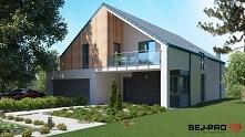 SEJ-PRO 012 ENERGO Interesujący projekt domu w stylu nowoczesnej stodoły z uż...