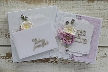 Kartka ślubna w zestawie z pudełkiem i kopertą