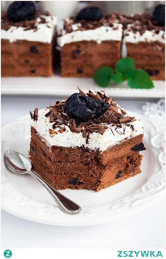 Ciasto pijana śliwka bez pieczenia