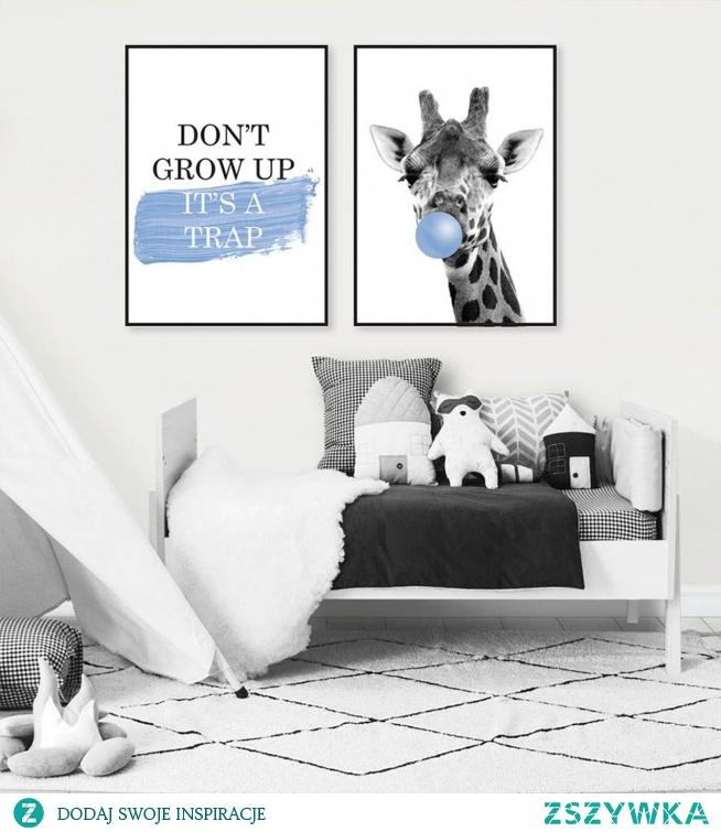 Komplet plakatów DON'T GROW UP niebieski  |  FOX ART STUDIO