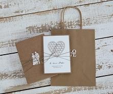 Stylowa kartka ślubna wraz z pudełkiem ślubna