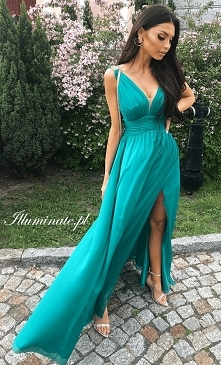 Piękna zielona sukienka dla...