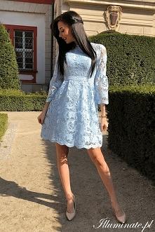 Koronkowa sukienka na wesel...