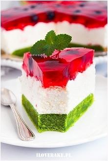 Ciasto arbuz z truskawkami