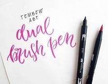 Brush pen tombow pastel - pastelowe kolory, które możesz dowolnie cieniować a nawet rozmywać by przypominały akwarele! Kupisz je w Calligrafun.
