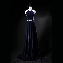 Seksowne Granatowe Sukienki...
