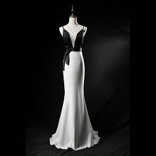 Elegancka Czarne Białe Suki...