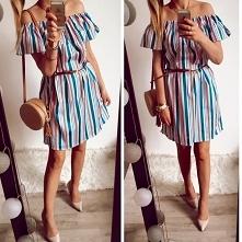 Sukienka Hiszzpanka w paski