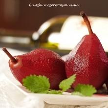 gruszki w czerwonym winie