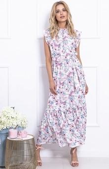 Fobya długa sukienka w kwia...