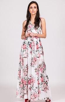 Roco kwiatowa sukienka maxi...