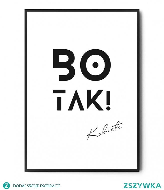 Plakat BO TAK! FOX ART STUDIO