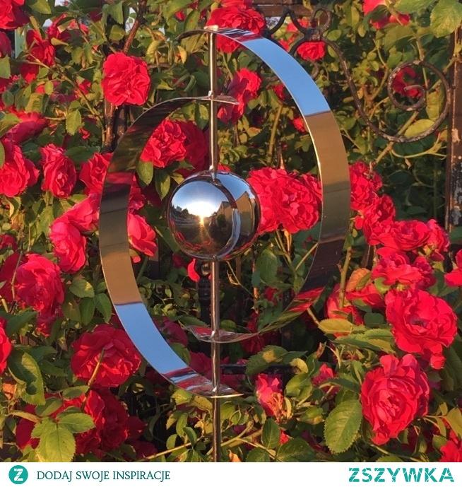 dekoracje do ogrodu ze stali nierdzewnej ELIPSA na srebrnekule.pl