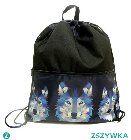 Plecako-worek z wilkiem