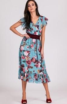 Szyfonowa sukienka w kwiaty...