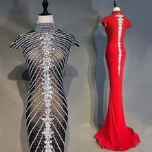 Luksusowe Czarne Sukienki W...