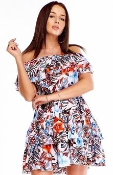 Butik Kwiatowa sukienka w s...