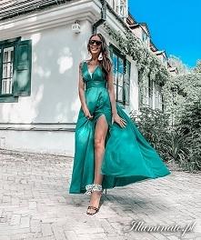 Długa zwiewna sukienka na w...