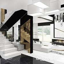 Białe schody w nowoczesnym ...