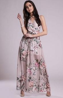 Roco szyfonowa długa sukien...