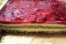 Ciasto makowe z malinami i ...