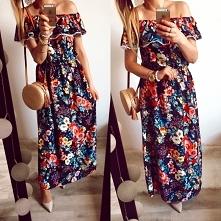 Suknia w kwiaty  Butik Gret...