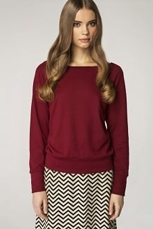 Sweter sw01 - bordo