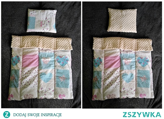 kołderka i poduszka do wózka lub łóżeczka