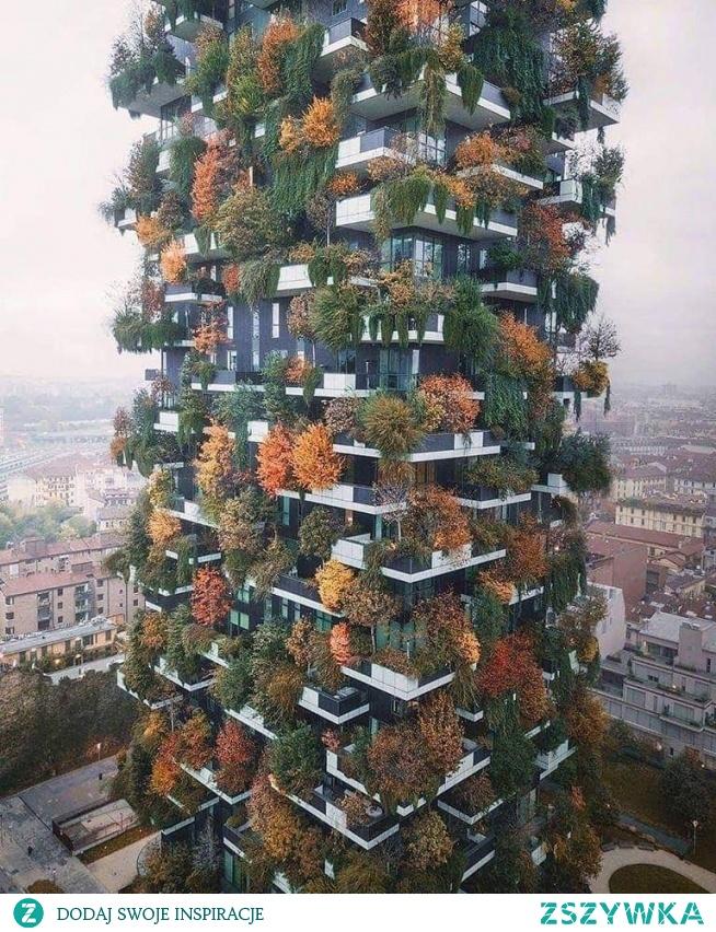 Bosco Verticale - mieszkalne wieżowce w Mediolanie. Dzielnica Porta Nuova.