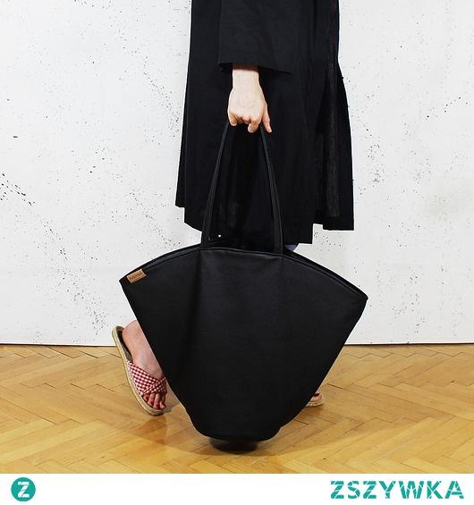 Shelly bag czarna torba codzienna na zamek vegan