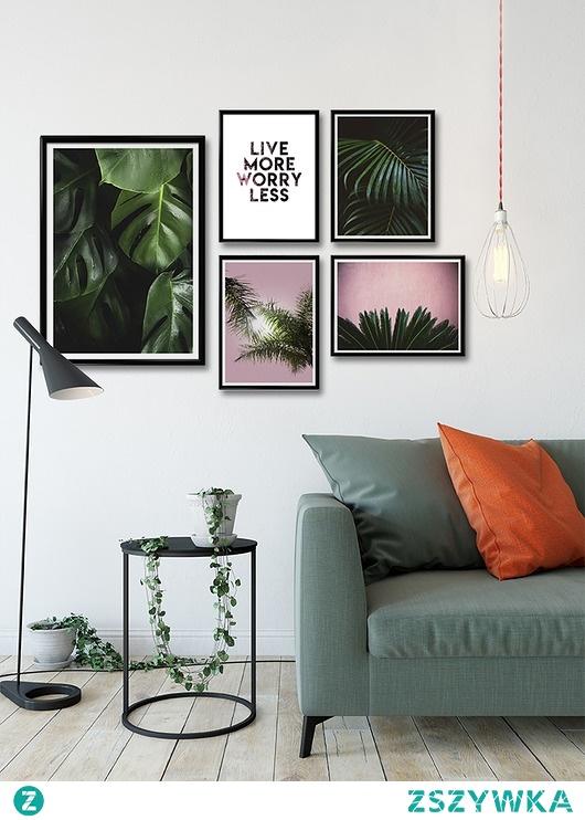 Palmowy zestaw plakatów