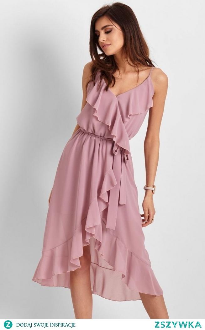 IVON letnia sukienka midi rożowa Chantal