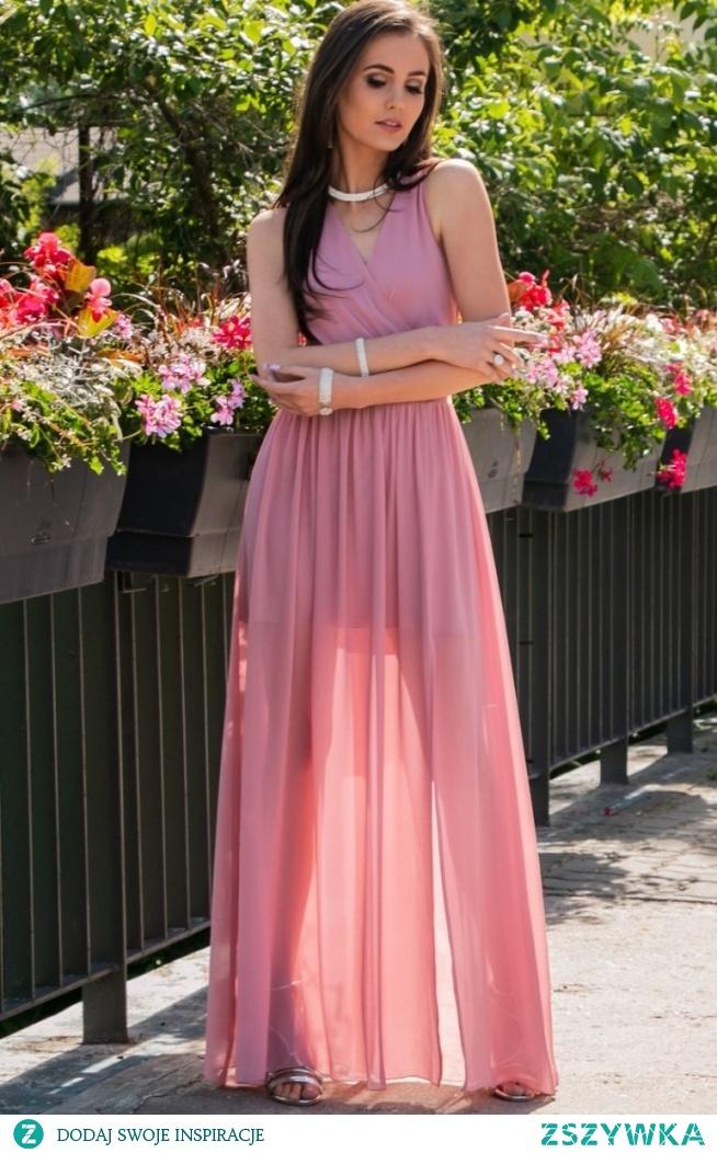 Roco elegancka szyfonowa sukienka 0213