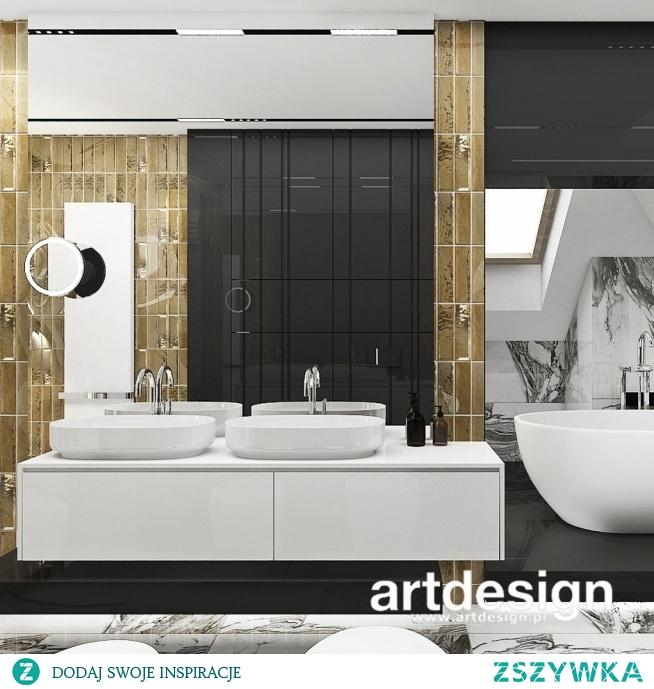 Łazienka z ciekawą kompozycją i wyrazistymi materiałami | TURN-UP FOR THE BOOKS | Wnętrza domu