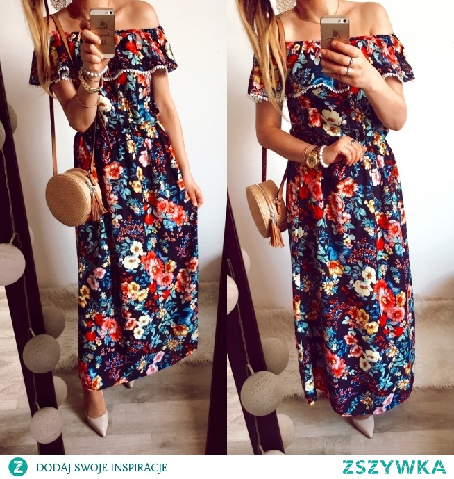 Suknia w kwiaty  Butik Gretastyl FB