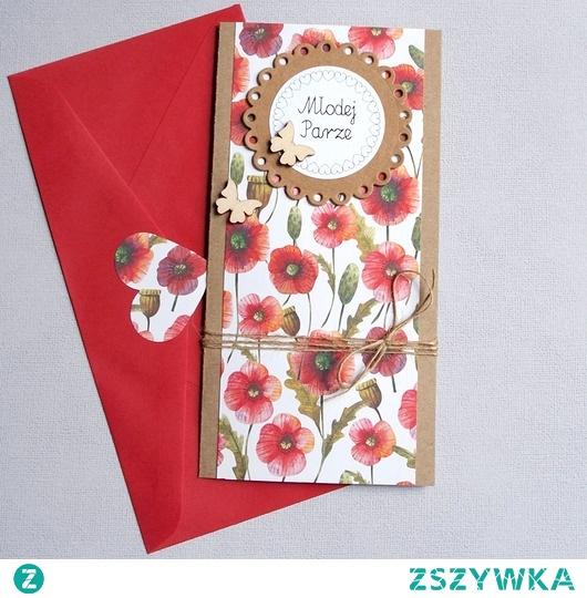 kartka ślubna :: polne kwiaty :: slim II