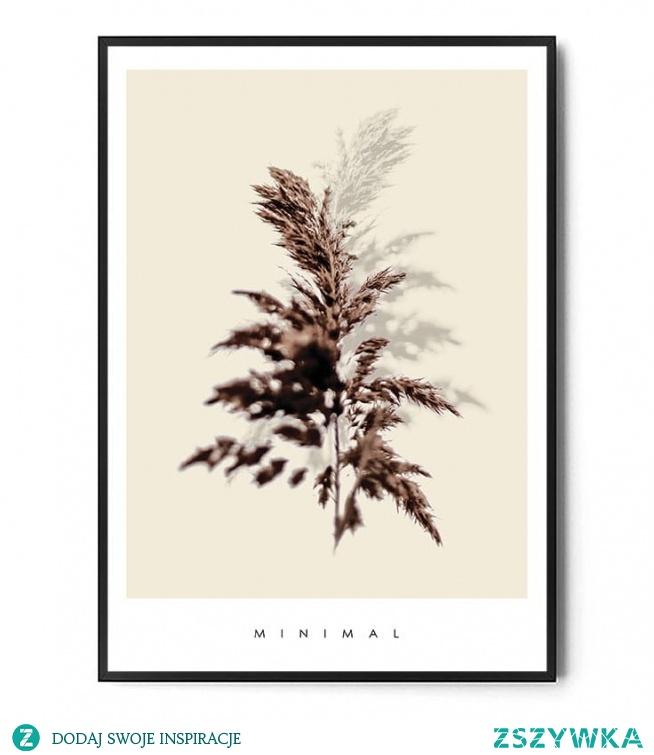 Plakat GRASS MINIMAL FOX ART STUDIO