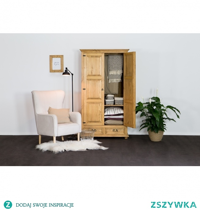 woskowana szafa z litego drewna meble-woskowane.com.pl