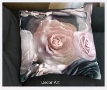 poszewka, wzór 3D, róże - r...