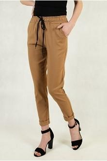 Brązowe spodnie materiałowe...
