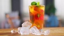 domowa ice tea z nektarynek