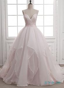 #pink princess #ballgown organza #weddingdress Model: H0659 (Darmowa wysyłka na cały świat) Wyszukaj w witrynie numer modelu, link w bio