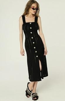 Madnezz Czarna sukienka z g...