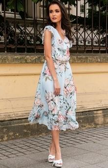 Roco Modna sukienka midi w ...