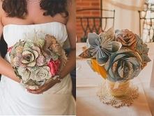 Ślubny bukiet z map
