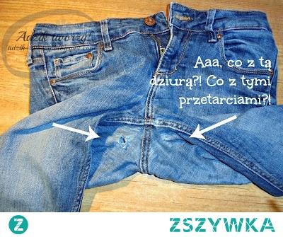 Zamiast łamać się i pękać, że kolejna para portek przetarła się w kroku czy przedziurawiła od chodzenia i trzeba ją wyrzucić... No właśnie nie musisz pozbywać się zniszczonych spodni! :)  Przetarcia lub nawet i dziury w spodniach w kroku można zaszyć/załatać od wewnątrz. Poszperaj tylko za dopasowanymi kolorystycznie łatkami do wszycia w spodnie, podobnie dobierz kolor nici do szycia i jedziesz z tym koksem! :*  Instrukcje na naprawę spodni w kroku znajdziesz po KLIKnięciu w zdjęcie oraz na blogu DIY Adzik-tworzy.pl